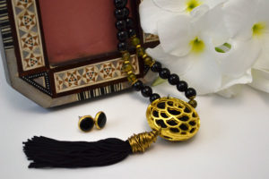 Black Onyx Tassel Necklace