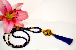 Blue Lapis Tassel Necklace