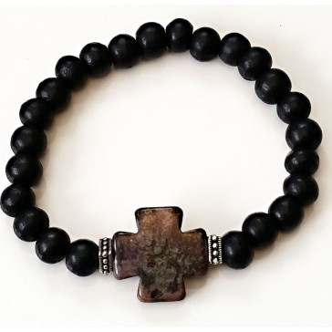 NEW****Ebony Wood Beaded Bracelets
