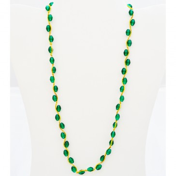 "SALE****  Green Crystals in gold tone Necklace ""Green Mist Candy Necklace"""