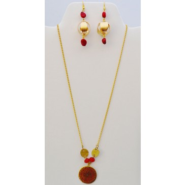 SALE***Red Sea  Sunrise Gold Rodolite Necklace