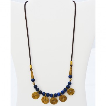 NEW****Golden Eternity Blue Necklace