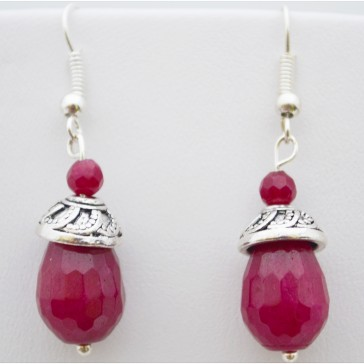 Raspberry Drops Earrings