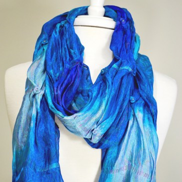 Royal Blue Roses Scarf (Available in other colors)