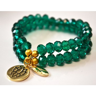 NEW*****Green Crystal Bracelet - Double Trouble Bracelet