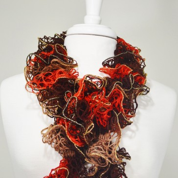 Knit Scarf - Brown and Orange