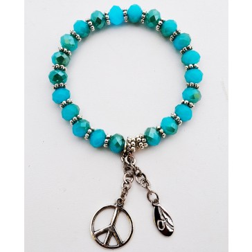 Tiffany Blue Crystal Charm Bracelet