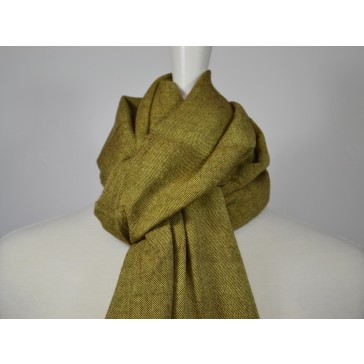 Green Cotton Scarf with Fringes