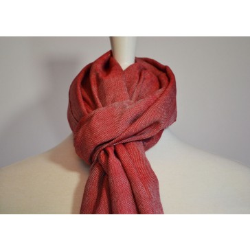 Red Cotton Scarf with Fringes