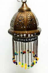 NEW ***** Hand Crafted Hanging Arabian/Egyptian Moroccan style Lamps with Hanging beads