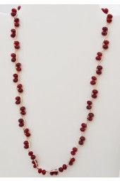 "SALE*** Red Crystal Silver Necklace - ""Red Mist Candy Necklace"""
