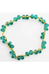 SALE*** 50% off ! Green Crystal Gold Tone Bracelet