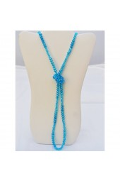 SALE 50% - off on Roaring Twenties Long Blue Crystal Necklace