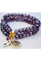 Purple Crystal Bracelets - Double Trouble Bracelet