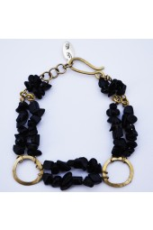 SALE - 60% off -  Black Gold  Bracelet