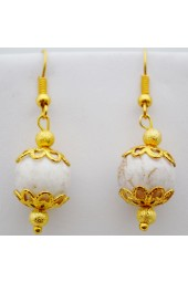 White Oasis Earrings
