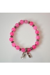 Breast Cancer Awareness Pink Bracelet