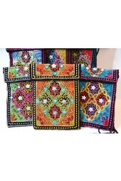 Square Beaded Bags with Cross Strap