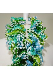 Knit Scarfs Blue-Green