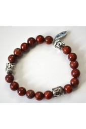 NEW****Red Brown Jasper Buddha Bracelet