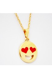NEW**** Gold Happy Emoji Necklace