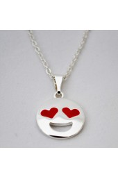 NEW**** Silver Happy Emoji Necklace