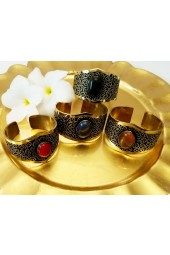 NEW*****Gold Cuff Bracelets with Gemstones