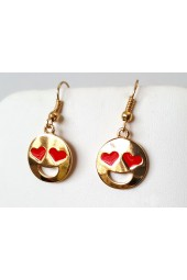 Gold or Silver Happy Emoji Earrings