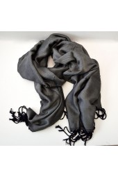 NEW****Egyptian Cotton Double Threaded Scarves with fringes - Grey, Lavender & Turquoise