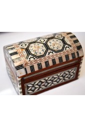 Wooden Large Egyptian Boxes with Mother of Pearl Inlay Design -  Dome Top