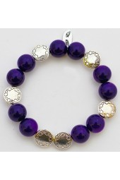 SALE - 50% - Grape Alabaster Gemstone RA bracelet