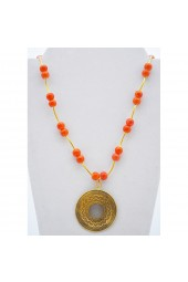 Clearance Sale*** 50% of Original price of $46 - Orange Sunset Necklace