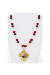 SALE ITEM - Org Price $46 -50% off - Raspberry Gold Necklace