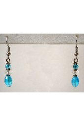 NEW**** Light Blue Crystal Drop Earrings