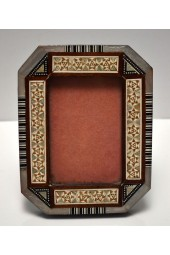 Wooden Medium Egyptian Frame with Mother of Pearl Inlay Design