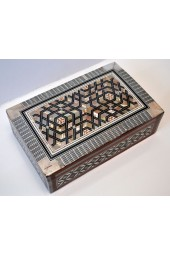 Wooden X-Large Egyptian Boxes with Mother of Pearl Inlay Design- Flat Top