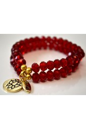 NEW ***** Red Crystal Bracelet - Double Trouble Bracelet