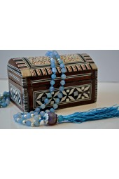 Wooden Small Egyptian Box with Mother of Pearl Inlay Design