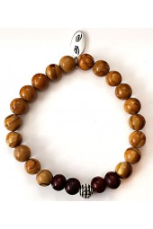 NEW****Light Brown Wood Beaded Bracelet