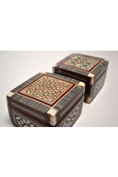 Wooden XSmall Egyptian Boxes with Mother of Pearl Inlay Design